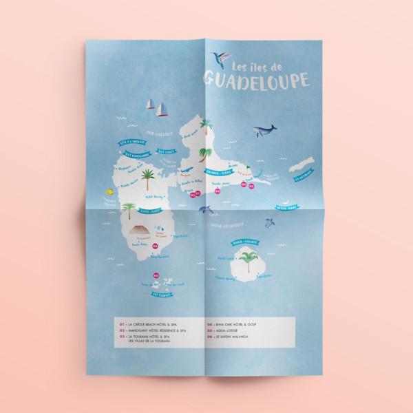Des Hôtels et des Iles – Carte touristique
