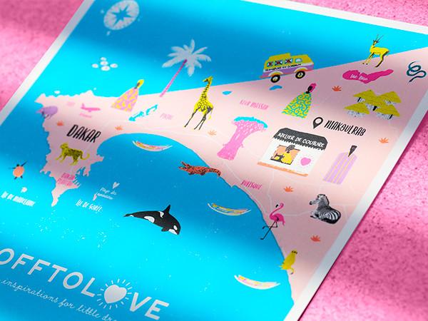 Offtolove – Carte illustrée